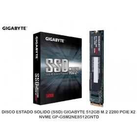 DISCO ESTADO SOLIDO (SSD) GIGABYTE 512GB M.2 2280 PCIE X2 NVME GP-GSM2NE8512GNTD