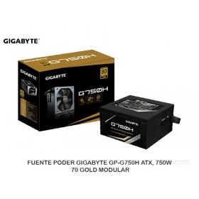 FUENTE PODER GIGABYTE GP-G750H ATX, 750W, 70 GOLD MODULAR