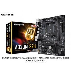 PLACA GIGABYTE GA-A320M-S2H, AM4, AMD A320, S/V/L, DDR4, SATA 6.0, USB 3.1.