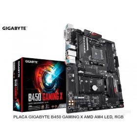 PLACA GIGABYTE B450 GAMING X AMD AM4 LED, RGB