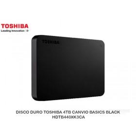 DISCO DURO TOSHIBA 4TB CANVIO BASICS BLACK HDTB440XK3CA