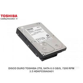 DISCO DURO TOSHIBA 2TB, SATA 6.0 GB/S, 7200 RPM, 3.5 HDKPC09A0A01