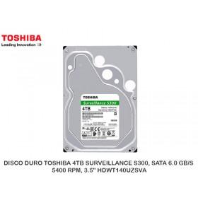 "DISCO DURO TOSHIBA 4TB SURVEILLANCE S300, SATA 6.0 GB/S, 5400 RPM, 3.5"" HDWT140UZSVA"