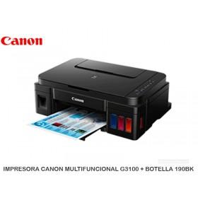 IMPRESORA CANON MULTIFUNCIONAL G3100 + BOTELLA 190BK