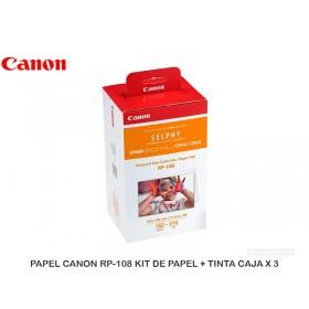PAPEL CANON RP-108 KIT DE PAPEL + TINTA CAJA X 3