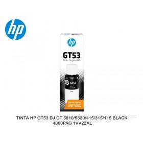 TINTA HP GT53 DJ GT 5810/5820/415/315/115 BLACK 4000PAG 1VV22AL