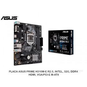 PLACA ASUS PRIME H310M-E R2.0, INTEL, 32G, DDR4, HDMI, VGA/PCI-E M-ATX