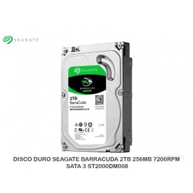 DISCO DURO SEAGATE BARRACUDA 2TB 256MB 7200RPM SATA 3 ST2000DM008