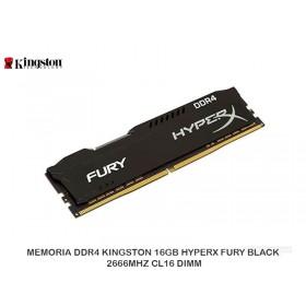 MEMORIA DDR4 KINGSTON 16GB HYPERX FURY BLACK 2666MHZ CL16 DIMM