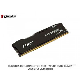 MEMORIA DDR4 KINGSTON 4GB HYPERX FURY BLACK 2666MHZ CL16 DIMM