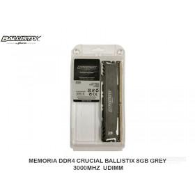 MEMORIA DDR4 CRUCIAL BALLISTIX 8GB GREY 3000MHZ  UDIMM