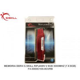 MEMORIADDR4 G.SKILLRIPJAWSV 8GB3000MHZ (1 X 8GB) F4-3000C16S-8GVRB