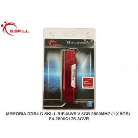 MEMORIADDR4 G.SKILLRIPJAWSV 8GB2800MHZ(1X8GB) F4-2800C17S-8GVR