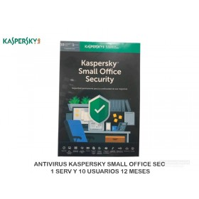 ANTIVIRUS KASPERSKY SMALL OFFICE SEC 1 SERV Y 10 USUARIOS 12 MESES