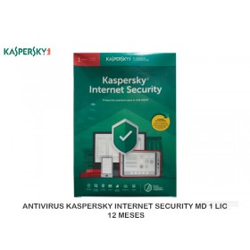 ANTIVIRUS KASPERSKY INTERNET SECURITY MD 1 LIC, 12 MESES