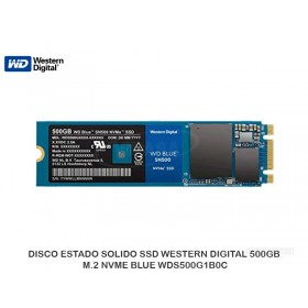 DISCO ESTADO SOLIDO SSD WESTERN DIGITAL 500GB M.2 NVME BLUE WDS500G1B0C