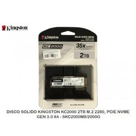 DISCO SOLIDO KINGSTON KC2000 2TB M.2 2280, PCIE NVME GEN 3.0 X4 - SKC2000M8/2000G