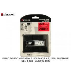 DISCO SOLIDO KINGSTON A1000 240GB M.2, 2280, PCIE NVME GEN 3.0 X2 - SA1000M8/240
