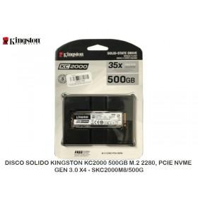 DISCO SOLIDO KINGSTON KC2000 500GB M.2 2280, PCIE NVME GEN 3.0 X4 - SKC2000M8/500G