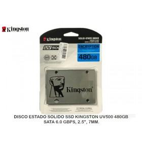 "DISCO ESTADO SOLIDO SSD KINGSTON UV500 480GB, SATA 6.0 GBPS, 2.5"", 7MM."