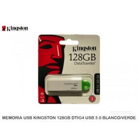 MEMORIA USB KINGSTON 128GB DTIG4 USB 3.0 BLANCO/VERDE
