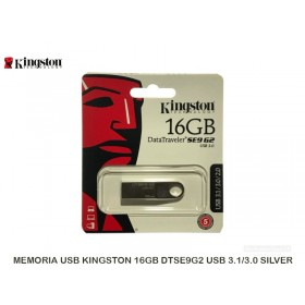 MEMORIA USB KINGSTON 16GB DTSE9G2 USB 3.1/3.0 SILVER