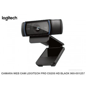 CAMARA WEB CAM LOGITECH PRO C920S HD BLACK 960-001257