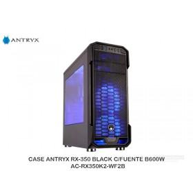CASE ANTRYX RX-350 BLACK C/FUENTE B600W AC-RX350K2-WF2B