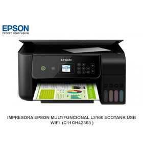 IMPRESORA EPSON MULTIFUNCIONAL L3160 ECOTANK USB, WIFI  (C11CH42303 )