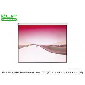 "ECRAN KLIPX PARED KPS-301 72"" (57.1"" X 43.3"" / 1.45 X 1.10 M)"