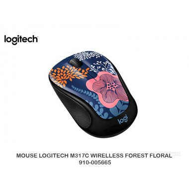 MOUSE LOGITECH M317C WIRELLESS FOREST FLORAL 910-005665