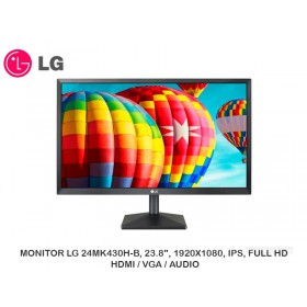 "MONITOR LG 24MK430H-B, 23.8"", 1920X1080, IPS, FULL HD, HDMI / VGA / AUDIO"