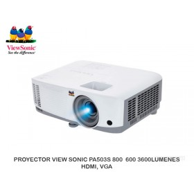 PROYECTOR VIEW SONIC PA503S 800 600 3600LUMENES HDMI, VGA