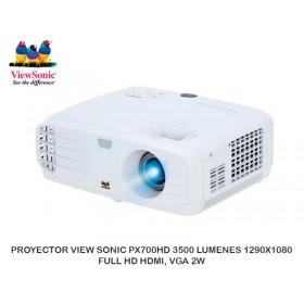 PROYECTOR VIEW SONIC PX700HD 3500 LUMENES 1290X1080 FULL HD HDMI, VGA 2W