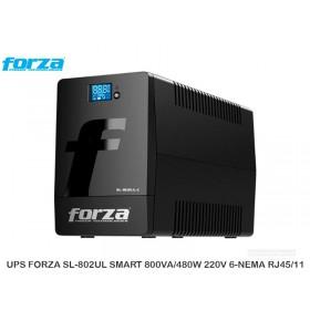 UPS FORZA SL-802UL SMART 800VA/480W 220V 6-NEMA RJ45/11