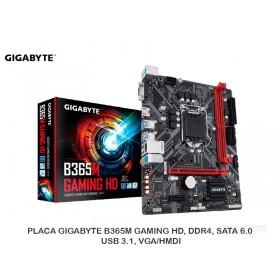 PLACA GIGABYTE B365M GAMING HD, DDR4, SATA 6.0, USB 3.1, VGA/HMDI
