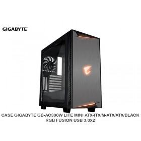 CASE GIGABYTE GB-AC300W LITE MINI ATX-ITX/M-ATX/ATX/BLACK/RGB FUSION/ USB 3.0X2