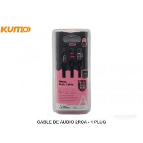 CABLE DE AUDIO 2RCA - 1 PLUG
