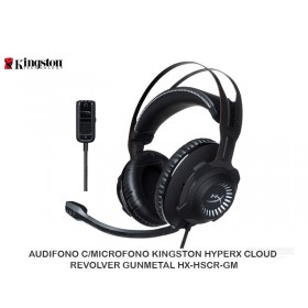 AUDIFONO C/MICROFONO KINGSTON HYPERX CLOUD REVOLVER GUNMETAL HX-HSCR-GM