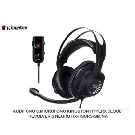 AUDIFONO C/MICROFONO KINGSTON HYPERX CLOUD REVOLVER S NEGRO HX-HSCRS-GM/NA