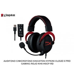 AUDIFONO C/MICROFONO KINGSTON HYPERX CLOUD II PRO GAMING ROJO KHX-HSCP-RD