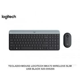 TECLADO+MOUSE LOGITECH MK470 WIRELESS SLIM USB BLACK 920-009266