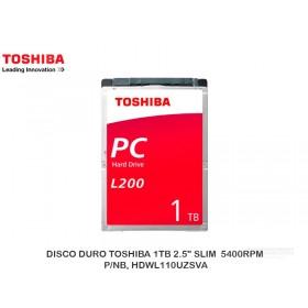 "DISCO DURO TOSHIBA 1TB 2.5"" SLIM  5400RPM, P/NB, HDWL110UZSVA"