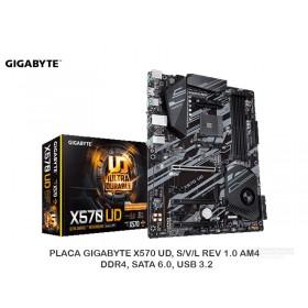 PLACA GIGABYTE X570 UD, S/V/L REV 1.0 AM4, DDR4, SATA 6.0, USB 3.2