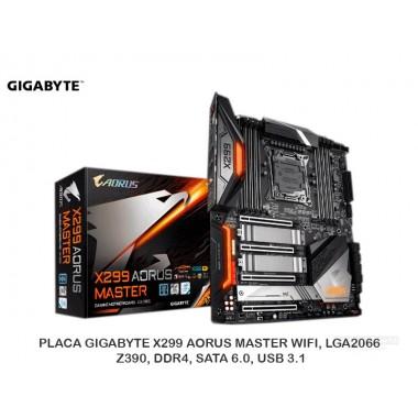 PLACA GIGABYTE Z390 AORUS MASTER WIFI, LGA1151, Z390, DDR4, SATA 6.0, USB 3.1