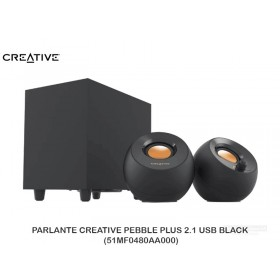 PARLANTE CREATIVE PEBBLE PLUS 2.1 USB BLACK (51MF0480AA000)
