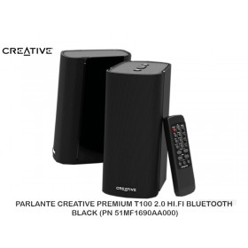 PARLANTE CREATIVE PREMIUM T100 2.0 HI.FI BLUETOOTH BLACK (PN 51MF1690AA000)
