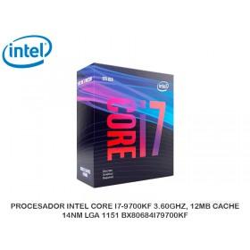 PROCESADOR INTEL CORE I7-9700KF 3.60GHZ, 12MB CACHE, 14NM LGA 1151 BX80684I79700KF
