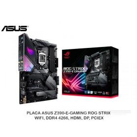 PLACA ASUS Z390-E-GAMING ROG STRIX, WIFI, DDR4 4266, HDMI, DP, PCIEX