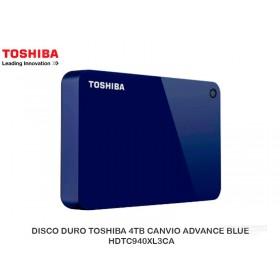 DISCO DURO TOSHIBA 4TB CANVIO ADVANCE BLUE HDTC940XL3CA